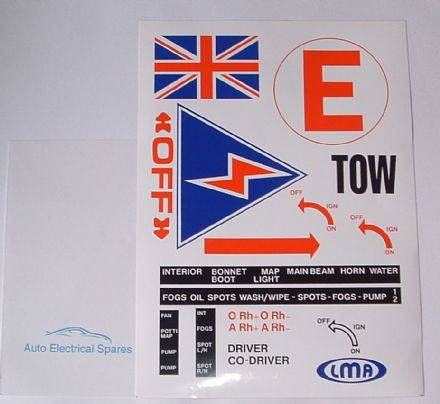 FIA RACE RALLY decal sticker set